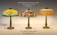 Vintage Lighting: Williamson, Chicago Mosaic Lamps