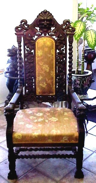 I Do Own A Old Man Winters Chair Hand Carved Its Frm 1940