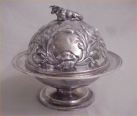 covered butter dish  ca