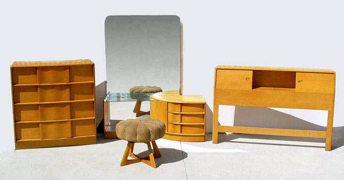 vintage heywood wakefield bedroom set twin maple furniture lot